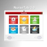 Nurscare gränssnitt NurseTab